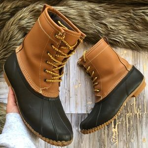 Shoes - LACE UP WINTER & RAIN DUCK BOOTS FROM TARGET!